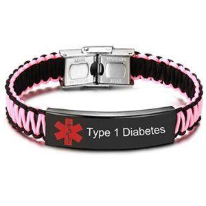 Type 1 Diabetes Medical Alert ID Bracelet